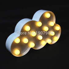 aliexpress buy plastic white cloud led marquee sign light up