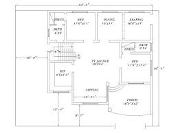 2d House Plan Drawing A Floor Plan Drawn In 2d Home Plan Drawing