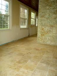 photo of installing travertine tile floor tile installation