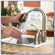 moen anabelle oil rubbed bronze pull down kitchen faucet faucets