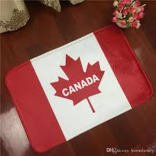 wholesale canada national flag flannel square bathroom carpet