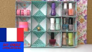 boîte de rangement pour accessoires diy cubes de papier et