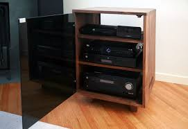 Custom Made Stereo Cabinet by Cress Carpentry