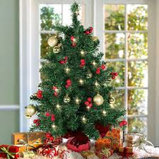Image Is Loading Table Top Decorated Christmas Tree Battery Operated Small