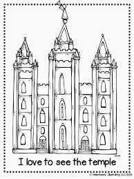 Melonheadz LDS Illustrating I Love To See The Temple Coloring Page And Salt Lake Lds PagesFree