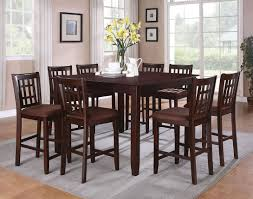 9 Pieces Pub Style Dining Sets With Black Painted Color Wooden Rh Kinggeorgehomes Com Large Room Tables Table