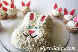 HAPPY EASTER with Easter Bunny Cake Bunny Cupcakes & Easter