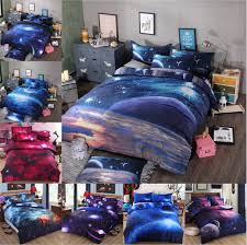 Bedclothes 3d Galaxy bedding sets Twin Queen Size Universe Outer