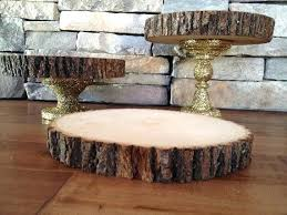 Wood Cake Stand My Gorgeous Gold Glitter Wedding Rustic Chic