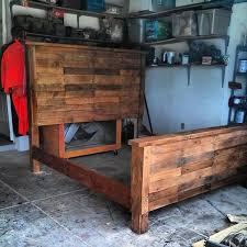 rustic king bed frame plans frame decorations
