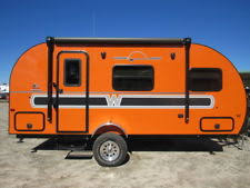 New Winnebago ORANGE RED BLUE SILVER Vintage Retro RV Old Camper Style