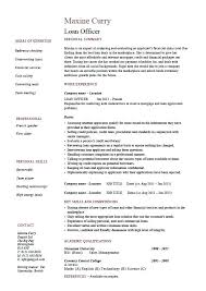 Commercial Banker Resume Example Banking Corporate Loan Officer Sample Banks Mortgage Equity