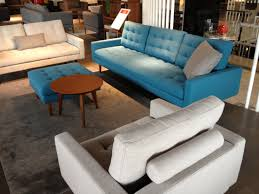 West Elm Bliss Sofa Craigslist by The King Furniture Uno Sofa In Oxford Cyan And Oxford Mink Fabric