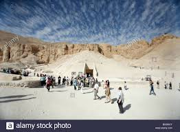 100 In The Valley Of The Kings Overview Of The Of The KV62 In Egypt Stock Photo