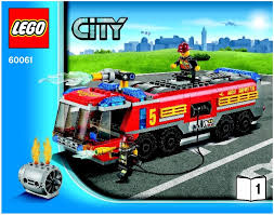 City : LEGO Airport Fire Truck Instructions 60061, City