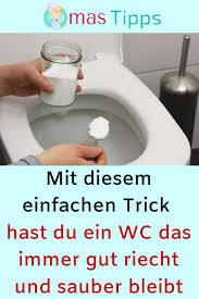 mit diesem einfachen trick hast du ein wc das immer gut