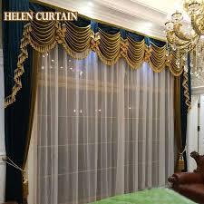 helen vorhang set luxus vorhänge für wohnzimmer im europäischen stil mit volant italienischen samt blackout vorhänge für schlafzimmer 08