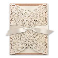 Rose Gold Wedding Invitations Rustic Glam Laser Cut And Real Glitter Invitation