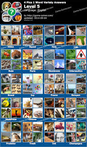 4 Pics 1 Word Variety Level 5 Game Solver