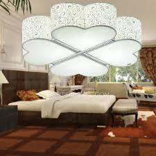modern fabric shade flush mount ceiling light for living room