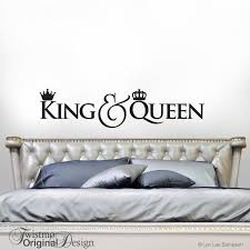 King And Queen Crown Decor Bedroom Wall Decal Gift For