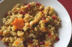 winterlicher couscous mit getrockneten aprikosen