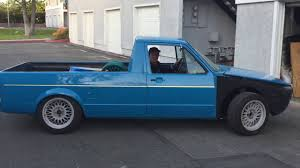 SLAMMED 1980 VW RABBIT PICKUP TRUCK FIRST DRIVE - YouTube