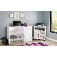 Modern Home fice Printer Stand Cart with Casters in White