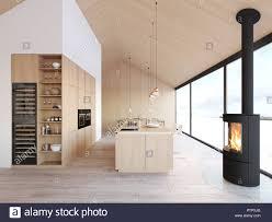 100 Gw Loft Apartments Nordic Kitchen In Apartment Stock Photos Nordic Kitchen In