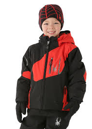 spyder clothes outlet spyder mini leader ski jacket black