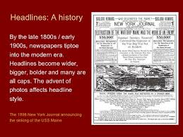 Sinking Of The Uss Maine Newspaper by Copy Editor Rules And Guide