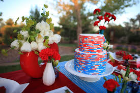 Red White Blue Wedding With Snow Cones Summer Love