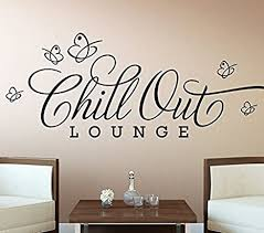 wandora wandsticker chill out lounge i schwarz bxh 130 x 45 cm i schmetterlinge wandaufkleber wohnzimmer wandtattoo schlafzimmer aufkleber sticker