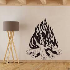 große lagerfeuer lagerfeuer cing feuer kamin wand aufkleber wohnzimmer spielzimmer feuer reise wand aufkleber schlafzimmer vinyl decor