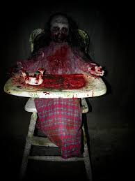Halloween Coffin Prop by Feed Me Franny Zombie With High Chair Creepycollection Com