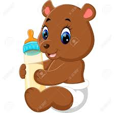 Cute Baby Bear Cartoon Stock Photo