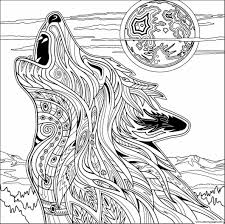 Printable Free Wolf Coloring Pages For Beautiful Photos In Adults Theotix Me