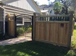 Custom Wood Privacy Fence And Scalloped Aluminum Gate Designed And ... Classic White Vinyl Privacy Fence Mossy Oak Fence Company Amazing Outside Privacy Driveway Gate Custom Cedar Horizontal Installed By Titan Supply Backyards Enchanting Backyard Co Charlotte 12 22 Top Treatment Arbor Inc A Diamond Certified With Caps Splendid Near Me Standard Wood Front Stained Companies Roofing Download Cost To Yard Garden Design 8 Ft Tall Board On Backyard