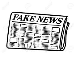 Fake News Newspaper Transparent Line Art Isolated On White Background Stock Vector
