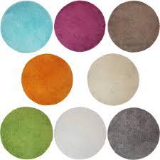 badematte lasalle rund 60 cm rutschfester hochflor teppich