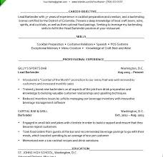 Bartender Resumes Examples This Is Server Resume Download Skills Great