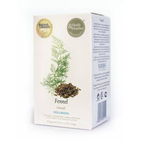Heath & Heather Fennel Herbal Infusions Tea - 50 Tea Bags