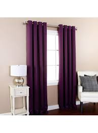 Burgundy Grommet Blackout Curtains by Purple Basic Solid Grommet Thermal Insulated Blackout Curtains 104