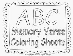 Bible Coloring Pages For Kids With Verses