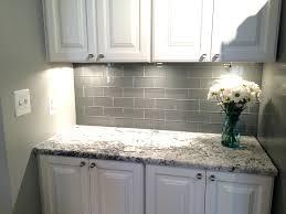 glazed ceramic tile backsplash dove gray 3 x 6 handcrafted glazed