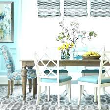 Teal Dining Table Turquoise Upholstered Chair Room Chairs Rectangular