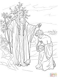 Click The Samuel Anoints Saul As King Coloring Pages