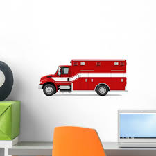 100 Fire Truck Wall Decals Ambulance Emergency Decal Monkeys Peel And Stick