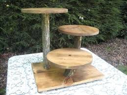 Tiered Wooden Cake Stand Best Rustic Stands Ideas On Wedding Cupcake Log Wood Dessert Sta
