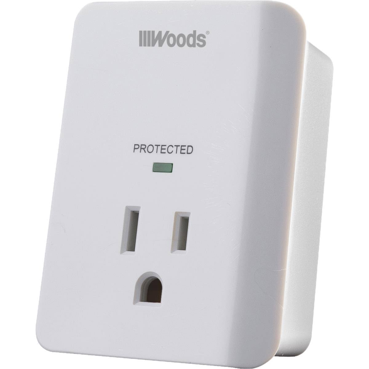 Woods 41008 1 Outlet Appliance Surge Protector Alarm